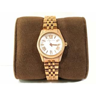 Michael Kors Lexington White Dial Rose Gold-tone Ladies Watch