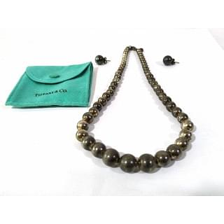 Tiffany & Co Sterling Silver Ball Necklace & Earring Set