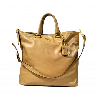 Prada Womens Vitello Leather Phenix Tote