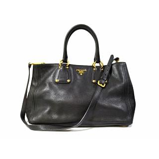 Prada Sabbia Vitello Daino Leather Shopping Tote