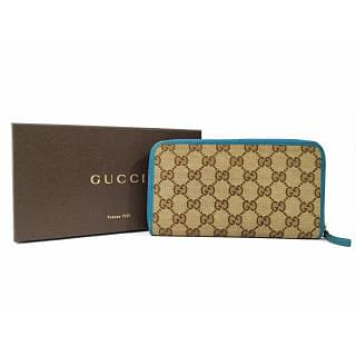 Gucci GG Guccissima Canvas Zip Around Wallet