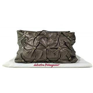 Salvatore Ferragamo Metallic Clutch