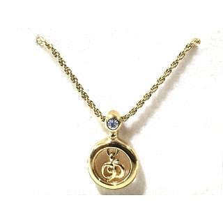 Dior CD Logos Charm Necklace