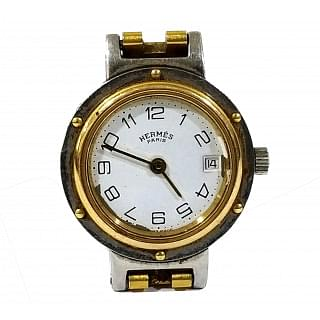 Hermes Clipper 2 Tone Quartz Ladies Watch