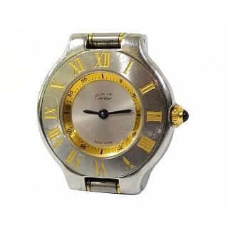 Cartier Gold Silver 1340 Quartz Steel Ladies Watch