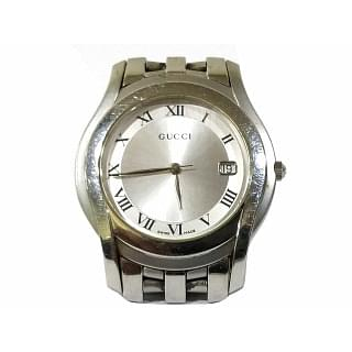 Gucci 5500 M Silver Dial Quartz Mens Watch