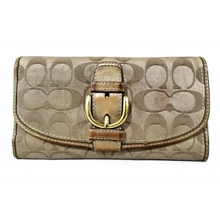 Coach Women Trifold Buckle Long Wallet