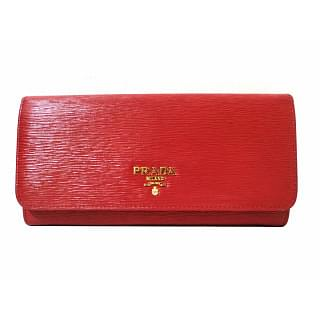 Prada Continental Saffiano Leather Wallet