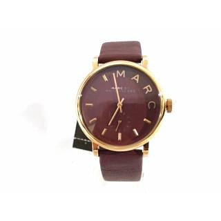 Marc By Marc Jacobs Baker Maroon Dial Moroon Leather Ladies Watch
