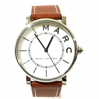 Marc Jacobs women Classic Brown Leather Strap Watch