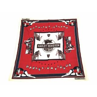 Harley Davidson Motorcycle Linen Scarf