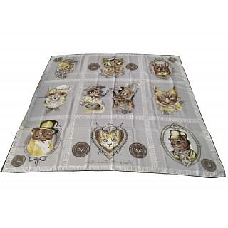 Versace 1969 Cats and Dogs Print Scarf