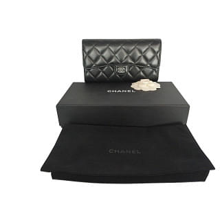 Chanel Quilted Long Flap Wallet