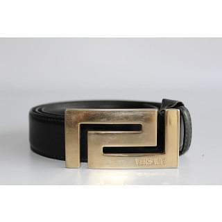 Versace Greek Style Logo Buckle Belt