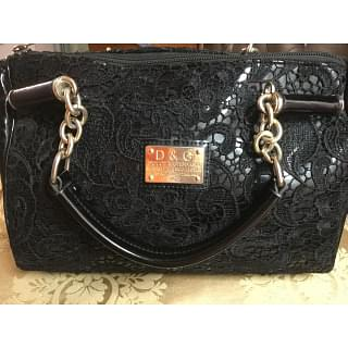 Dolce And Gabbana Black Embroidery Bag