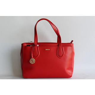 DKNY Red Leather Tote
