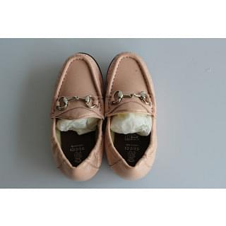Gucci Baby Horsebit Powder Pink Patent Leather Horsebit Loafers