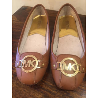 Michael Kors Flats with Gold Michael Kors Emblem