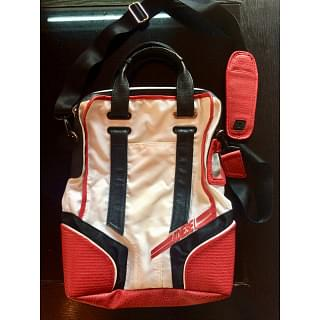 Diesel Red & White Tote Bag