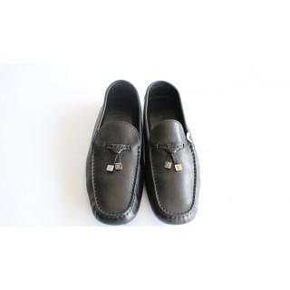 Louis Vuitton Black Driver Moccasins