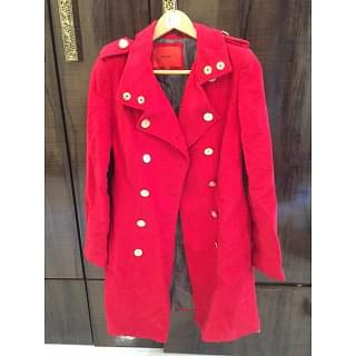 Mango Red Trench Coat