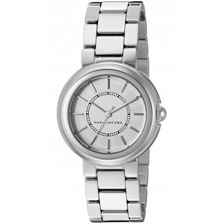 Marc by Marc Jacobs Women's Silver Dial Stainless Steel Band