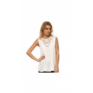 Guess Milk 100% polyester Round Neck Shirts For Women