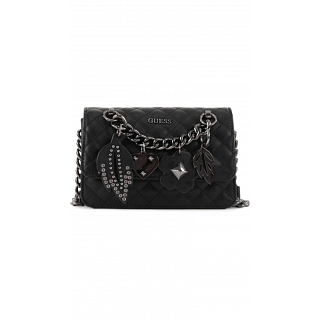 Guess Crossbody Bag for Women , Black , VN677978