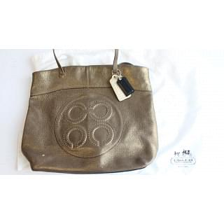 Coach Metallic Julia Perry Texture Leather Tote