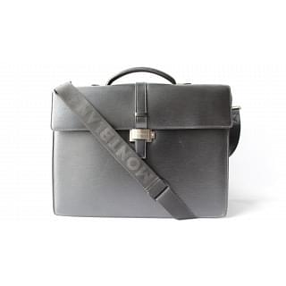 Montblanc Black Leather Men's Office Bag