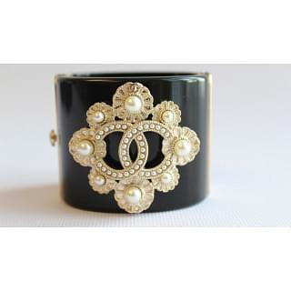 Chanel Detailed Beaded and Pearl Cuff