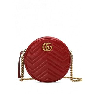 GUCCI MARMONT MINI LEATHER SHOULDER BAG - INTTSB840680505