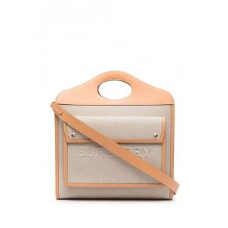 BURBERRY CANVAS AND LEATHER POCKET BAG - INTTSB840935562