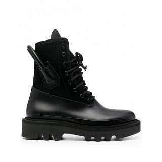 GIVENCHY LEATHER COMBAT RAINBOOTS