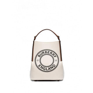 BURBERRY PEGGY SMALL COTTON BUCKET BAG - INTTSB842509634