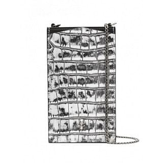 ALEXANDER MCQUEEN LEATHER PHONE CASE ON CHAIN - INTTSB843576208