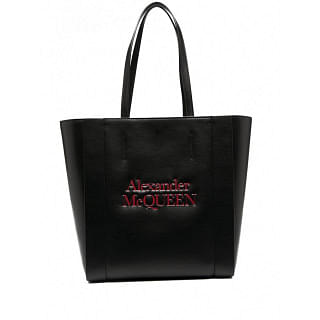 ALEXANDER MCQUEEN SIGNATURE LEATHER SHOPPING BAG - INTTSB844366182