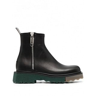 OFF-WHITE SPONGE SOLE LEATHER BOOTS