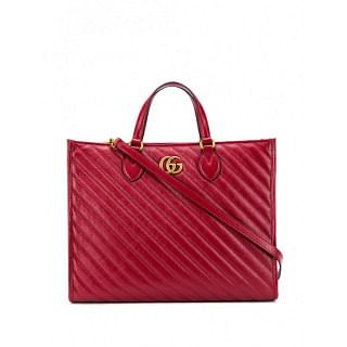 GUCCI GG MARMONT LEATHER SHOPPING BAG - INTTSB844733414