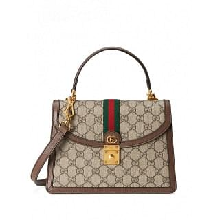 GUCCI SMALL OPHIDIA WEB TOP-HANDLE BAG - INTTSB844896929