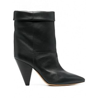 ISABEL MARANT LUIDO LEATHER BOOTS - INTTSB845096488