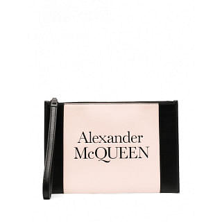 ALEXANDER MCQUEEN LOGO LEATHER POUCH - INTTSB847415102
