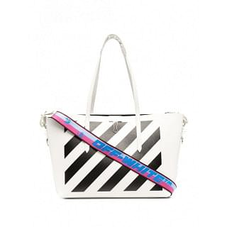 OFF-WHITE LEATHER DIAGONAL TOTE BAG - INTTSB848073764