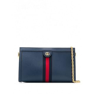 GUCCI OPHIDIA LEATHER SHOULDER BAG - INTTSB849262875