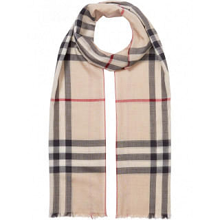 BURBERRY GIANT CHECK WOOL SCARF - INTTSB849484956