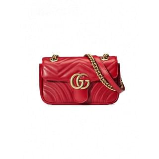 GUCCI GG MARMONT MINI LEATHER SHOULDER BAG - INTTSB849529967