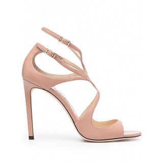 JIMMY CHOO LANG LEATHER SANDALS
