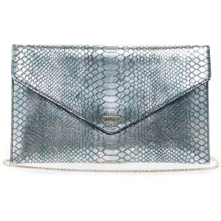 Guess Clutch Bag for Women - Leather, Silver - MS669228