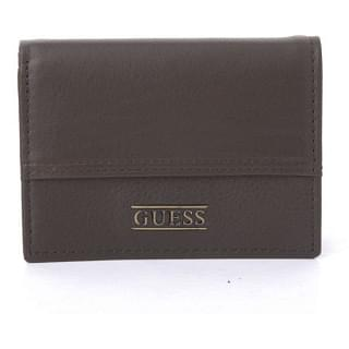 Guess Trifold Leather Dark Brown Wallet