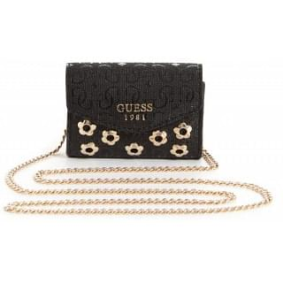 Guess Black Gloss S6855102 Mini Coin Purse Crossbody